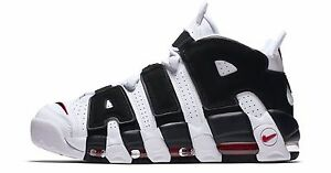 promo code 163c5 d01a0 Image is loading Nike-Air-More-Uptempo-PE-White-Black-Red-