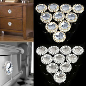 Crystal Cupboard Cabinet Dresser Drawer Door Knobs Handle Pull Handle Dazzling
