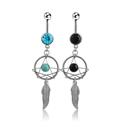 1 PC Dream Catcher Dangle Navel Ring Belly Button Rings Body Piercing Jewelry
