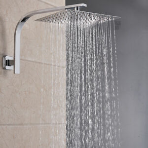 Types Of Shower Heads.Details About 8 Inch Square Rain Shower Head Shower Arm Wall Mount Top Heads Chrome