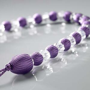 CRYSTAL LOOK  BEADS LILAC/MAUVE/  BEADED CURTAIN VOILE ROPE TIEBACK £3.99 EACH