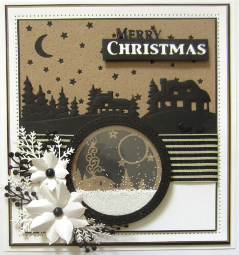 Sue Wilson Dies Festive Collection ~ Starry Night Sky 4.02X5.04 CED3084