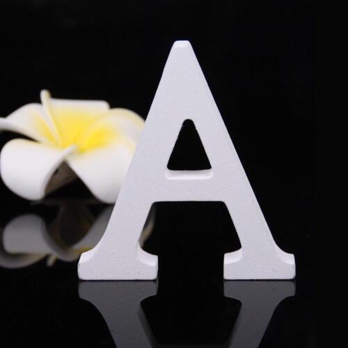 Grosses lettres pour mariage décoration épais en Bois Alphabet Blanc Party Decor À faire soi-même 8 cm