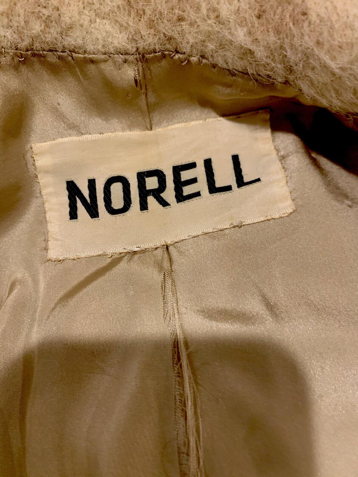 NORMAN NORELL Vtg Plaid Mohair Swing Coat Signatu… - image 2