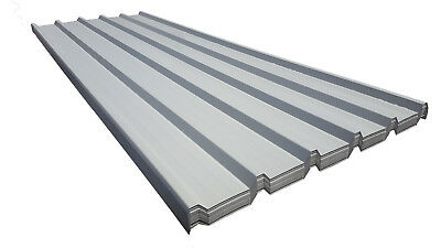 Roofing Sheets Box Profile Wall Cladding Polyester Goose Wing Grey 0 5mm |  eBay