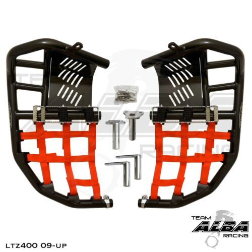 LTZ 400 KFX 400 DVX 400  Nerf Bar Nets  Pro Peg  Fits Alba Tusk    Red J