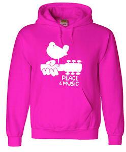 a0c9cdc3b8 Pink hoodie sweatshirt woodstock men s size sweat-shirt peace music ...