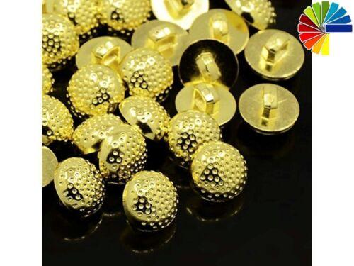 Bayberry plata 15 botones ojales oro perlas 12,5mm