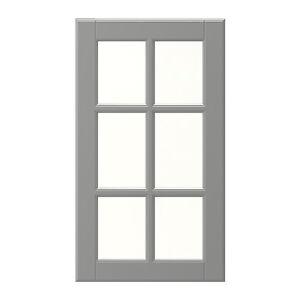 ikea liding grau vitrinent r front 30 x 92 cm. Black Bedroom Furniture Sets. Home Design Ideas