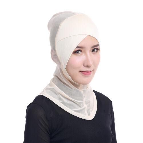 Hijab Kopftuch Halstuch Damen Kopfbedeckung Islamische Muslim Schal Unifarbe Neu