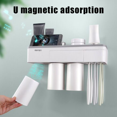 Magnetic Bathroom Toothbrush Holder Toothpaste Storage Set with Magnetic Cups