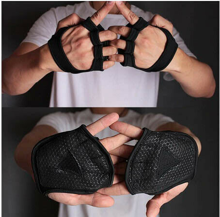 Gym Fitness Gloves Hand Palm Protector Bodybuilding Workout Grip Weight Lifting