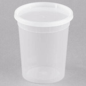 Image Is Loading 240 Case 32 Oz Microwavable Clear Round To