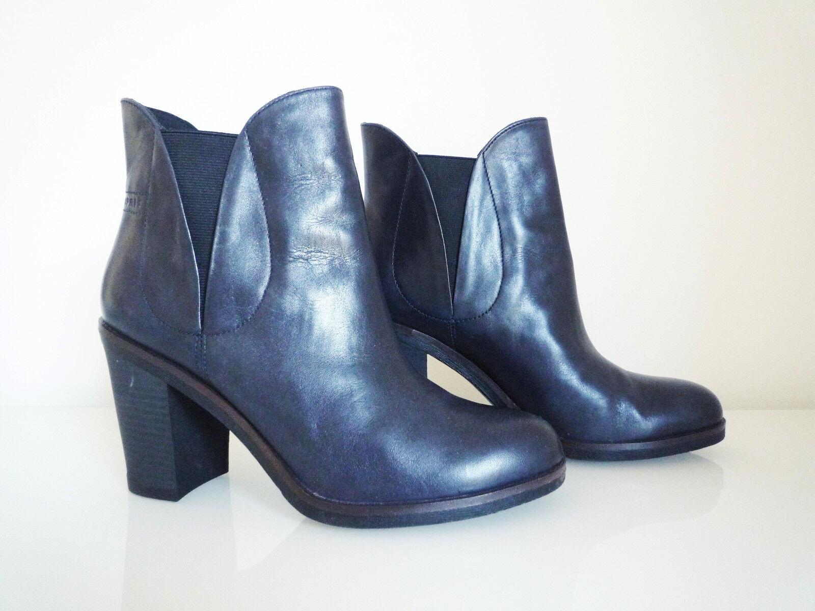 Esprit Stiefeletten, 9 Leder, Größe 40, dunkelblau, 9 Stiefeletten, cm Absatz abb69f