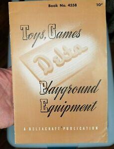 DELTA toys,  games,  playground equipment patternbook Book Booklet 4558 PR