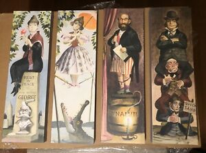 4 separate plaques Haunted Mansion Stretching Portraits Disneyland  Art
