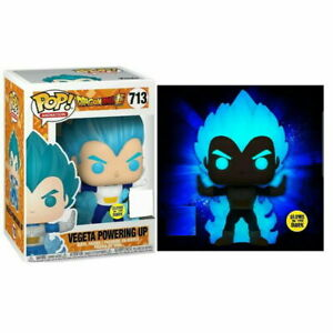 Vegeta-Powering-Up-Glow-GITD-Funko-Pop-Vinyl-New-in-Mint-Box-Protector