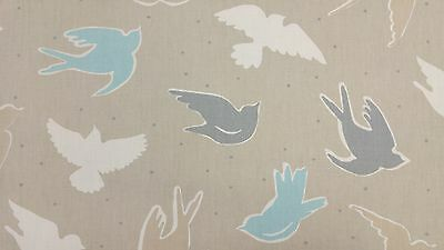 Clarke and Clarke Seabirds Surf Designer Curtain Upholstery Fabric