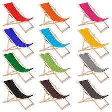 Tumbona de Madera Silla Plegable de Haya Hamaca Jardín Terraza Playa Colores