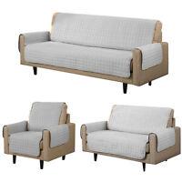 Microfiber Reversible Sofa Cover Chair Throw Pet Dog Kids Protector Furniture