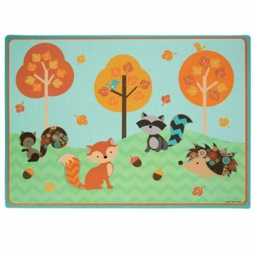 Woodland Animals Fall Kids Child Placemat /& Feeding Plate Fox Squirrel Raccoon