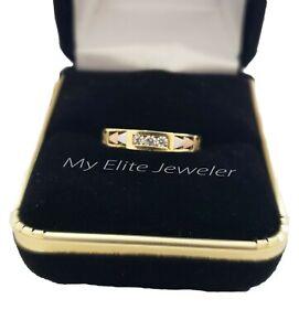 10k Bague Solitaire Rond Coupe Femme 1 Ct Diamant Premium Or Mariage Taille 7-afficher Le Titre D'origine