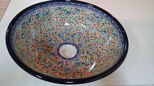 Image Is Loading Polish Pottery 17 034 Stoneware Sink Bowl Poland