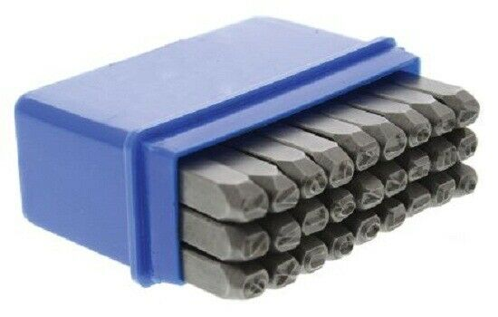 RS Pro ENGRAVING LETTER PUNCH SET 4mm 27-Pieces A-Z Hardened & Temperot