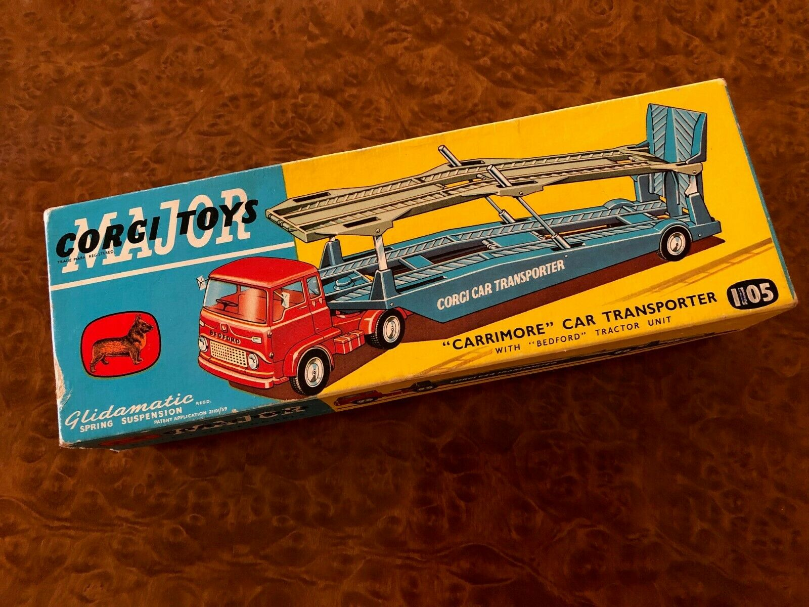 Vintage Corgi Toys Major MIB Bedford Carrimore Car Transporter No. 1105