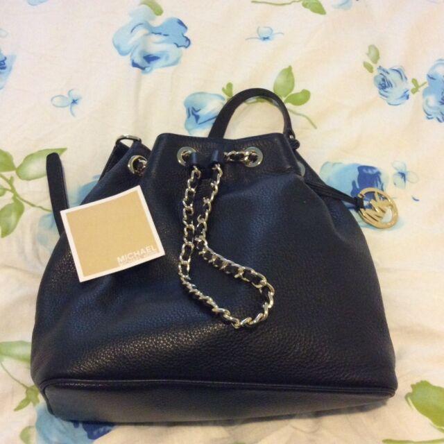5e9bbf402e92 MICHAEL KORS FULTON MK Log Brown Leather LG Shoulder Tote Bag Msrp  398.00