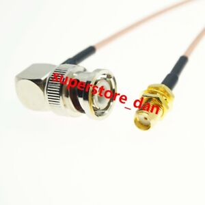 10//15//20cm RP-SMA FEMALE to MMCX MALE Right ANGLE Jumper Pigtail FPV RG316 Cable