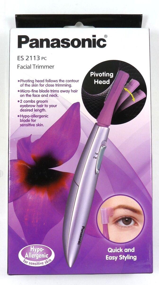 Panasonic Es2113pc Facial Hair Trimmer Groomer For Women Pivoting