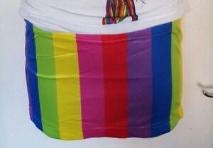 2a6c6499efbe Gay Pride Skirt Fancy Dress Rainbow Short Skirt LGBT Micro Mini ...