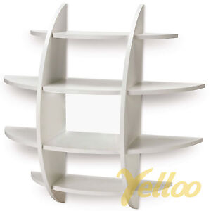 Mensola da parete sferica design porta cd libri camera bianca 61x61 ns 01010000 ebay - Libreria da parete ikea ...