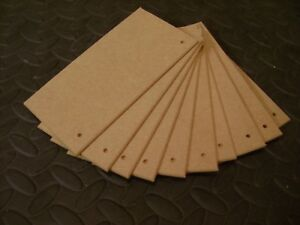 """20 PLAQUES  8/"""" x 4/""""   MEDITE PREMIER 3mm MDF Blank wooden plaques signs"""