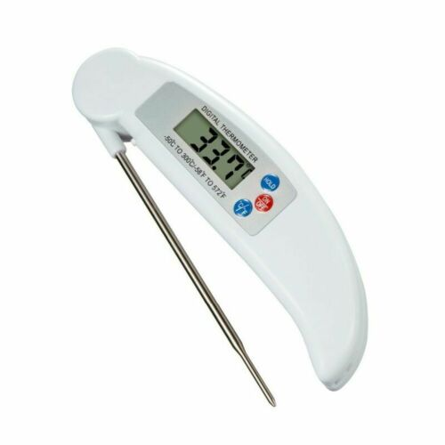 1x Digital LCD Thermometer Kochthermometer Küche Fleisch Bratenthermometer BBQ