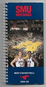 1989-90-SMU-Mustangs-Men-039-s-Basketball-Spiral-Bound-Media-Guide