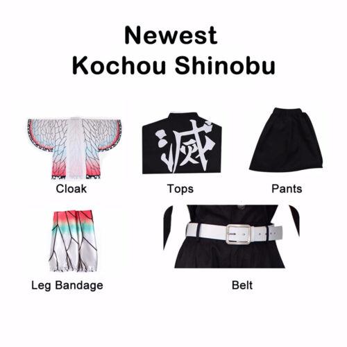 Anime Demon Slayer Kimetsu no Yaiba Kochou Shinobu Cosplay Costume Party Uniform