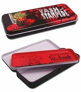 NEW-Trigun-Vash-the-Stampede-Tin-Pencil-Case-by-GE-Animation