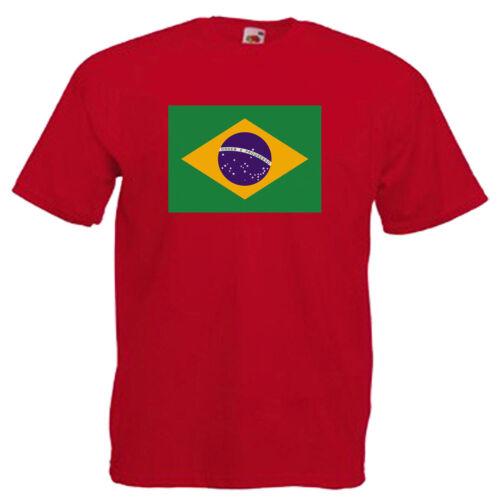 Brazil Flag Children/'s Kids T Shirt
