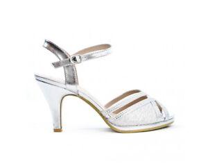 Women-Silver-Sandals-Wedding-Prom-Heel-with-Gem-Stones-Ladies-UK-Size-3-8