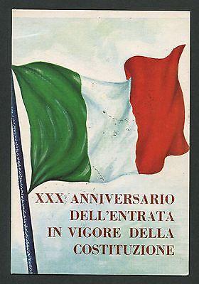 Italien Xxx Anniversario Costituzione 1978 Cartolina Sonderkarte C9453 Hochglanzpoliert