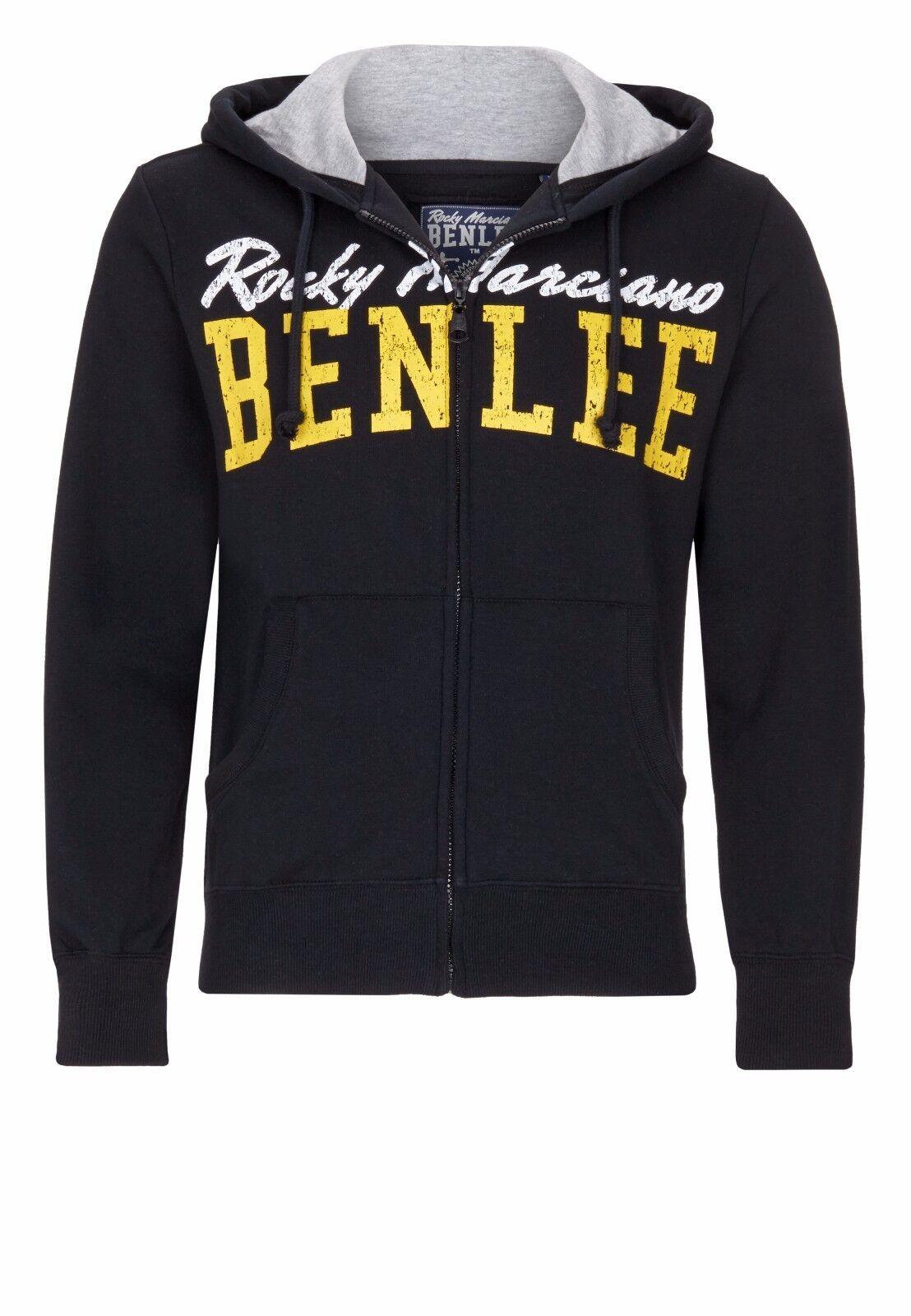 BENLEE Rocky Rocky Rocky Marciano Uomo hooded zipsweat Westside HOODY NERO 9339b1