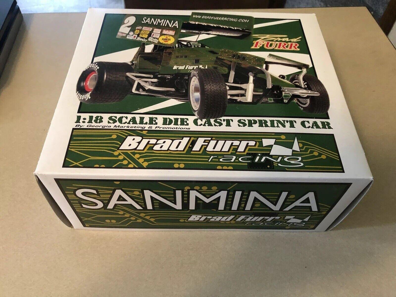 GMP Sanmina Brad Furr 1 18 Scale Die Cast Sprint Car