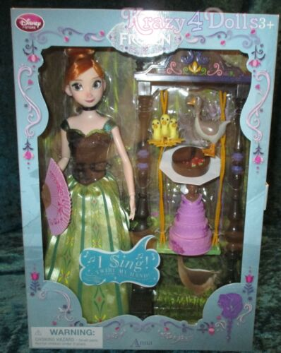 "Disney Frozen Anna 11/"" Deluxe Singing Doll Set NEW!"
