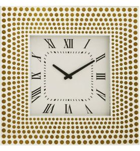 Deluxe-Large-Mirrored-Wall-Clock-With-Gold-Circle-Design-Wall-Clock-50cm-Glass