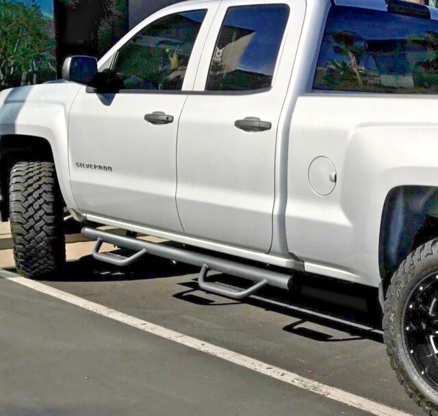 Gmc Sierra Running Boards >> Fit 08 18 Chevy Silverado Gmc Sierra Extend Cab H Style Nerf Bars Running Boards