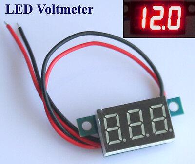 Mini Digital Voltmeter LED Spannungsanzeige Panelmeter 3.3-30V Rot