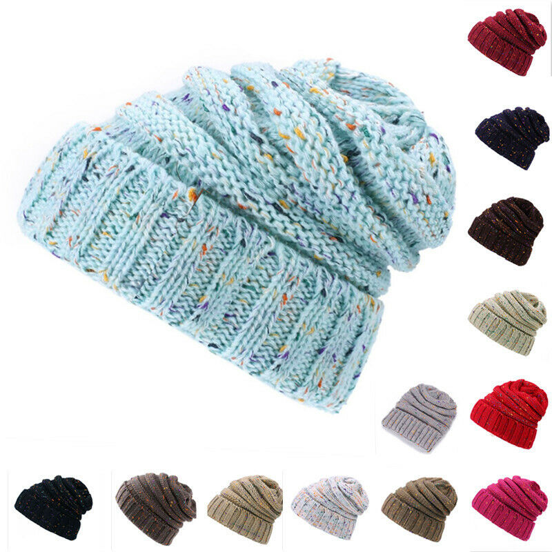 63a05be447ef56 Details about Female Winter Ball Cap Pom Pom Hat For Women Girl's Hat  Knitted Beanies Cap Hat