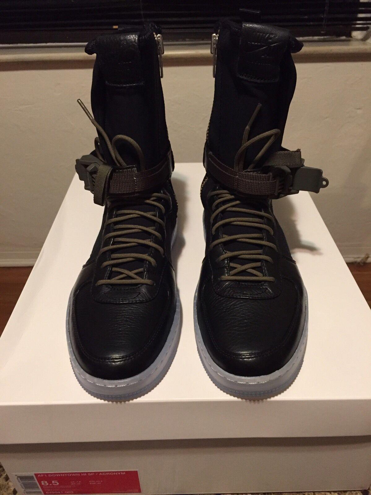Nike AF1 Olive Downtown Hi SP sigla Air Force 1 Negro Olive AF1 649941 003 SZ 8,5 baratos zapatos de mujer zapatos de mujer 6a6528